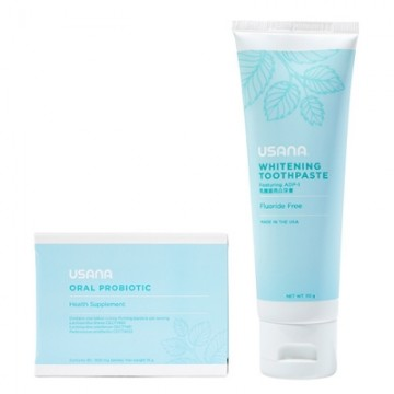 A Usana Oral Probiotic and Whitening Toothpaste